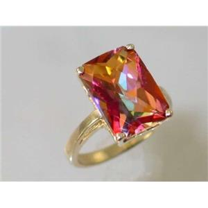 R189, Twilight Fire Topaz, Gold Ring