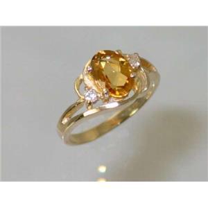R176, Citrine, Gold Ring
