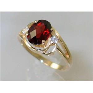 R176, Mozambique Garnet, Gold Ring