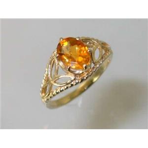 R137, Citrine, Gold Ring
