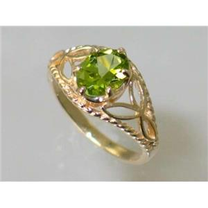 R137, Peridot, Gold Ring