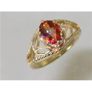 R137, Twilight Fire Topaz, Gold Ring