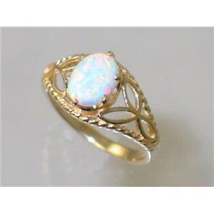 R137, White Created Opal