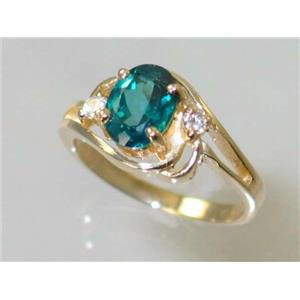 R176, Paraiba Topaz, Gold Ring