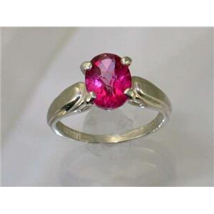 SR058, Pure Pink Topaz, 925 Sterling Silver Ring
