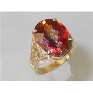 R049, Twilight Fire Topaz, Gold Ring