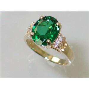 R123, Russian Nanocrystal Emerald, Gold Ring