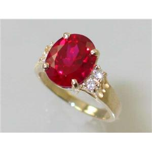 R123, Created Ruby, Gold Ring