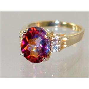 R123, Twilight Fire Topaz, Gold Ring