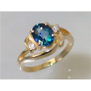 R176, Neptune Garden Topaz, Gold Ring