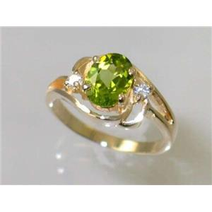 R176, Peridot, Gold Ring