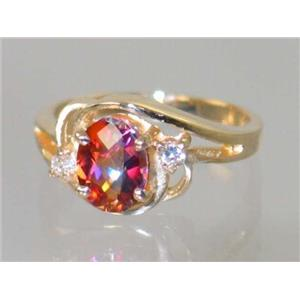 R176, Twilight Fire Topaz, Gold Ring