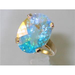R217, Mercury Mist Topaz, Gold Ring