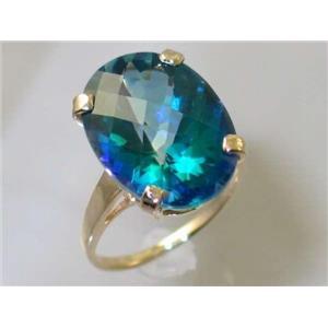R217, Neptune Garden Topaz, Gold Ring