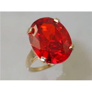 R217, Padparadsha CZ, Gold Ring