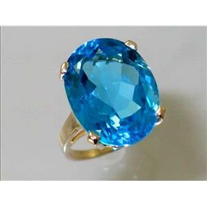 R217, Swiss Blue Topaz, Gold Ring