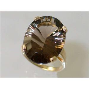 R217, Smoky Quartz, Gold Ring