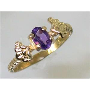 R192, Amethyst, Gold Ring