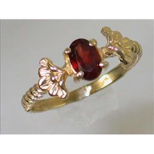 R192, Mozambique Garnet, Gold Ring