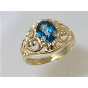 R111, Neptune Garden Topaz, Gold Ring