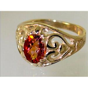 R111, Twilight Fire Topaz, Gold Ring