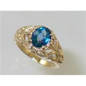 R113, Neptune Garden Topaz, Gold Ring