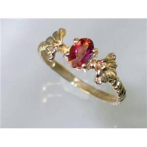 R192, Twilight Fire Topaz, Gold Ring