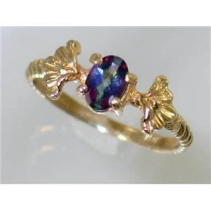 R192, Mystic Fire Topaz, Gold Ring