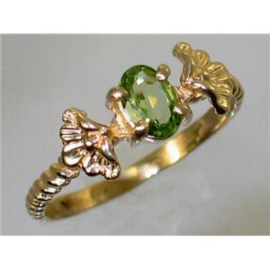 R192, Peridot, Gold Ring
