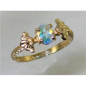 R192, Mercury Mist Topaz, Gold Ring