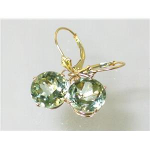 E217, Green Amethyst, 14k Gold