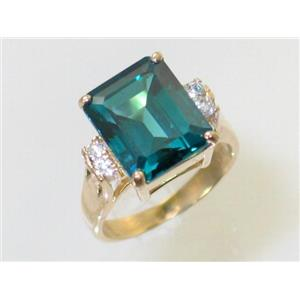 R183, Paraiba Topaz, Gold Ring