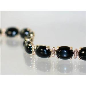 B003C, Black Onyx Gold Bracelet