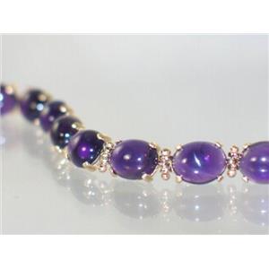 B003C, Amethyst Gold Bracelet