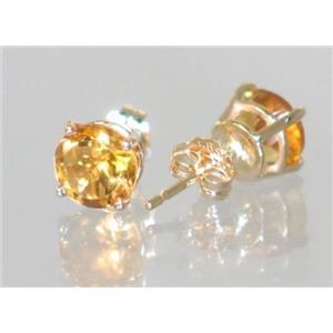 E012, Citrine, 14k Gold Earrings