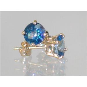 E012, Neptune Garden Topaz, 14k Gold Earrings