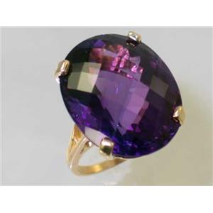 R129, Amethyst, Gold Ring