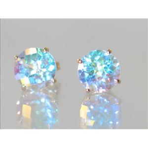 E112, Mercury Mist Topaz, 14k Gold Earrings