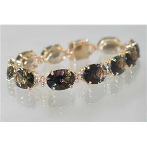 B005, Smoky Quartz Gold Bracelet
