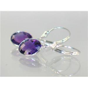 SE101, Amethyst, 925 Sterling Silver Earrings