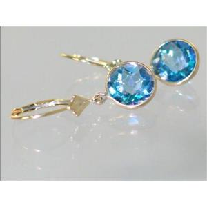 E111, Neptune Garden Topaz, 14k Gold Earrings