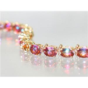 B001, Twilight Fire Topaz Gold Bracelet