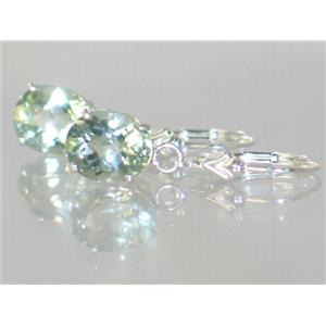 SE107, Green Amethyst, 925 Sterling Silver Earrings