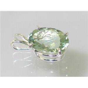 SP004, Green Amethyst, 925 Sterling Silver Pendant
