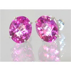 Pure Pink Topaz, 925 Sterling Silver Earrings, SE102