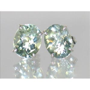 Green Amethyst, 925 Sterling Silver Earrings, SE102