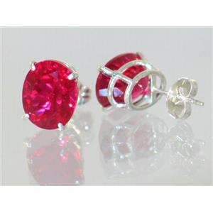 Created Ruby, 925 Sterling Silver Earrings, SE102