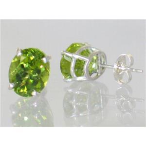 Peridot, 925 Sterling Silver Earrings, SE102