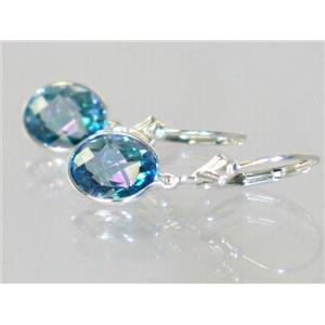 SE101, Neptune Garden Topaz, 925 Silver Earrings