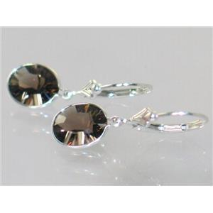 SE101, Smoky Quartz, 925 Sterling Silver Earrings